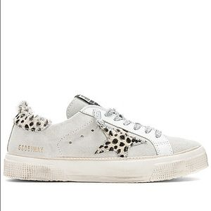 Golden Goose May Suede & Leopard Sneakers